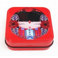 Customized Square empty cosmetic containers With Special Hinge Lid Manufactures