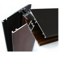 Industrial Wood Finish Aluminium Profiles For Polycarbonate Sheet OEM / ODM Manufactures
