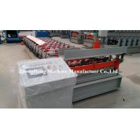 Steel Plate Roofing Sheet Wall Panel Roll Forming Machine With Hydraulic Decoiler Manufactures