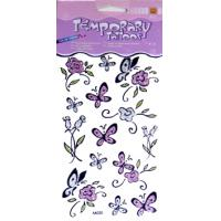 Make your own  Butterfly Design Glitter Temporary Tattoo with printing for adult Body skin Manufactures