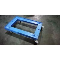 Transportation Plastic Dolly Loading Totes With 3 Inches PU Brake Casters Manufactures