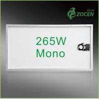 Glass Laminated 265W Monocrystalline Solar Panels Mono Solar PV Panels For Roof Manufactures
