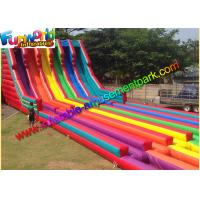 China 0.55mm Pvc Tarpaulin Commercal Inflatable Slide ,Super Six Slide For Garden on sale