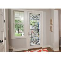 Original Artwork Architectural Decorative Stained Glass Door Panels Nouveau Art Deco Manufactures