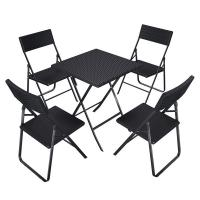 Camping Foldable Table And Chairs 61x75x61 Cm With Rattan Like Plastic Surface Manufactures