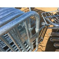 Crowd Control Barriers Hot Dipped Galvanized One Male/Female Hook Barriers 1100mm x2300mm Barriers Manufactures