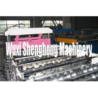 Fast Speed Colored Steel Floor Deck Roll Forming Machine Quick Cutting Manufactures