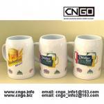 High quality white beer mug ceramic beer mug custom colors LOGO 500ML beer mug Manufactures