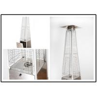 Tall Quartz Glass Tube Patio Heater , Powder Coated / Stainless Steel Gas Patio Heater Manufactures