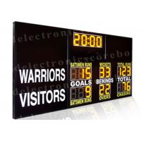 AFL 2 Modes Sports Led Electronic Scoreboard Cricket Football Yellow Led Color Manufactures