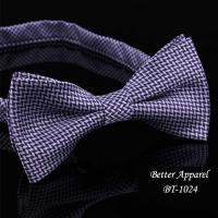 China Fashion men yarn dyed polyester bow ties in the style of Korea on sale