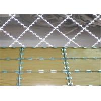Hot Dipped Galvanized BTO-22 Razor Barbed Wire With Post For Wire Mesh Fencing Manufactures