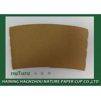 China Personalized Paper Cup Sleeves Brown Color Kraft Paper Environmental Protection on sale