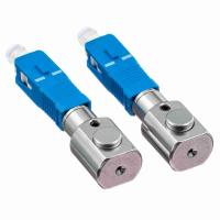 Gray Bare Adapter Fiber Optic SC Type Fiber Optic Couplers For Test Center Manufactures