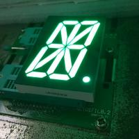 Pure green 16 Segment LED Display single digit for digital read-out panel Manufactures
