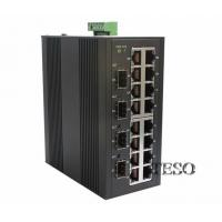 Industrial 16 Port Optical Ethernet Switch CISPR With Multi Mode Manufactures