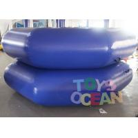 DIA 3M Dark Blue Inflatable Water Game Inflatable Floating Water Trampoline Manufactures