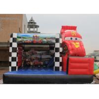 China Inflatable Amazing Commercial Grade Bounce Houses With Racing Car Decoration on sale