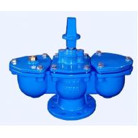 Blue Double Acting Air Release Valve With Ductile Iron Fittings / Chamber Manufactures