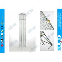 China Single Door Metal Wire Rack, Zinc Plated Wire Mesh Lockers Wire Display Stands on sale