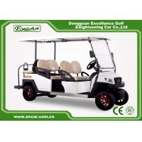 EXCAR 48V White 6 seater electric golf cart mini club car golf cart electric golf buggy car Manufactures