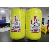 Buy cheap 1.17m Diameterx1.9m Height Yellow PVC Tarpaulins Cylindrical inflatable buoys from wholesalers