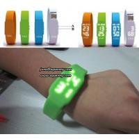 New Hot products colorful Sports Silicone Touch Led Watch Manufactures