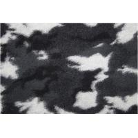 Camouflage Pattern Wool Jacquard Fabric With Black White Color Manufactures