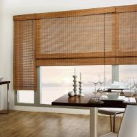 China Manual Natural Bamboo Roller Blinds Custom Reed Roll Up Blinds 2.4 Meters Max Width on sale