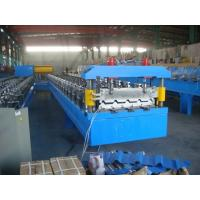 0.4mm-0.7mm Colour Steel  Automatic Roof Panel Roll Forming Machine  With Panasonic PLC Control Manufactures