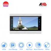 Fashional 4 wired AHD video door phone with door release support watching movies and motion detection Manufactures