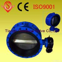 Quality Manufactrurer Supply Middle Line Double Flange Butterfly Valve for sale