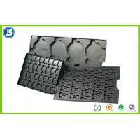 Electronic PS Black 0.45 mm Plastic ESD Trays , Anti-static Compartment Tray Manufactures