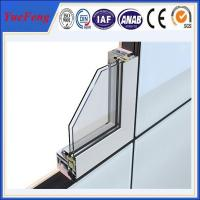 Aluminium section 6063 extrusion profiles,standard size aluminium door and windows frame Manufactures