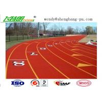 China Full PU Glue Rubber Running Track Plus SBR EPDM Particle Mixture For Stdaium School Playground wholesale
