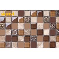 Natural Glossy Glass Ceramic Mosaic Tiles , Ceramic Wall Tiles For Kitchen Manufactures