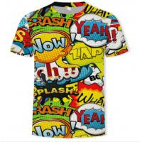 China O Neck Adults Full Sublimation Printing T Shirts Anti Pilling Eco Friendly on sale