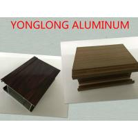 Multifunctional Extruded Wood Grain Aluminum Profile For Kitchen Square Shape Manufactures