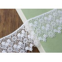Embroidery French Venice Guipure Cotton Lace Trim  / Floral Lace Ribbon Manufactures