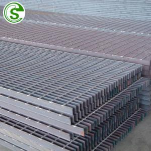 China hot dip galvanized anti slip bar steel grating weight Steel grid welded bar floor grating on sale
