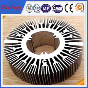 Industrial aluminium profile manufacturer for round sunflower heatsink aluminium Manufactures