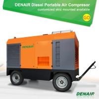 China 7/8/10 bar Diesel Engine Driven Portable Mobile Rotary Screw Type Air Compressor on sale