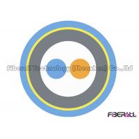 China 0.6 Tight Buffer Breakout 2 Core Single Mode Fiber Optic Cable Spiral Steel Tube on sale