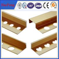 2015 New design Best Price Cover strips, Golden Aluminium Flooring Profile Manufactures