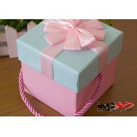 quality luxury rectangle cardboard gift boxes with handles decorative christmas gift for sale