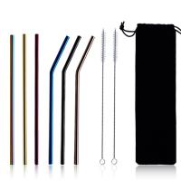 Full Size Reusable Coffee Straws Long Stainless Steel Drinking Straws Manufactures