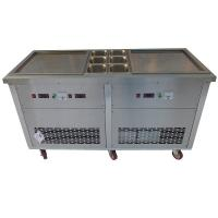 Fast Cooling Commercial Fried Ice Cream Roll Machine With Six Toppings Manufactures