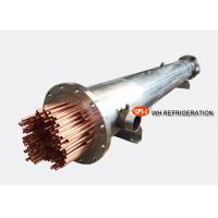 Marine Refrigeration Shell and Tube Heat Exchanger , Water Cooled Evaporator Manufactures