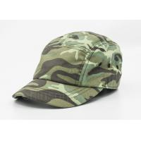 5 / 6 Panels Cotton Military Cap Camouflage With Metal Snap Fastener Manufactures
