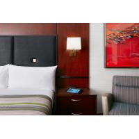 Quality Hotel Bedroom Furniture Mahogany wood headboard Bed and Fixed Millwork TV Wall Panel with Reading desk for sale